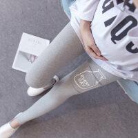 黛熊 孕妇装个性印花弹力打底裤韩版春秋时尚孕妇长裤托腹裤W-124