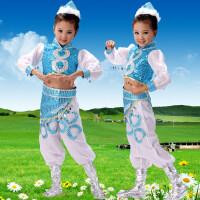 新款儿童表演服蒙古族少数民族筷子舞蹈演出服装