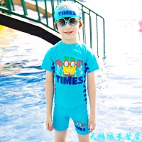 �和�泳衣男童泳�套�b男孩分�w小中大童小恐��游泳衣����