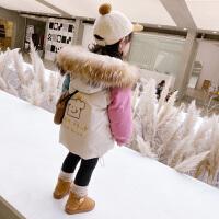女童冬装女宝宝外套小女孩羽绒儿童棉衣