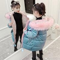 儿童2018新款冬季中长款棉衣中大童韩版棉袄外套