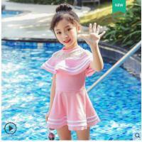 儿童泳衣女童韩版连体公主裙式宝宝可爱游泳衣女孩学生泡温泉泳装