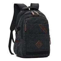 双肩包帆布男士背包韩版大容量复古休闲旅行包电脑包初中学生书包
