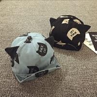 儿童春秋棒球帽鸭舌帽宝宝帽子6-个月夏天遮阳帽男女婴儿帽子软