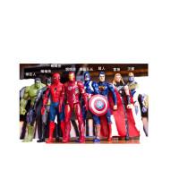 复仇者联盟美国队长钢铁侠蜘蛛侠蝙蝠侠超人模型玩具 高约18厘米可发光,袋装