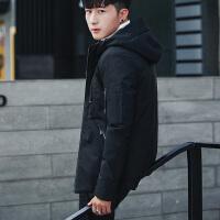冬季男士加厚棉衣学生帅气修身连帽男冬装棉袄韩版潮牌外套潮
