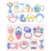 【支持礼品卡】新生婴儿玩具牙胶手摇铃可咬幼儿3-6-12个月5益智男宝宝女孩0-1岁x9q