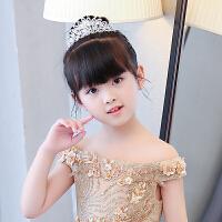 女童公主裙演出配饰小花童伴娘皇冠儿童婚纱发饰宝宝发箍头饰