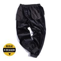 冬季加绒加厚胖子男装裤子男士运动裤宽松加大码加肥佬休闲长裤 5
