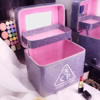 化妆包大容量专业防水便携化妆品收纳包洗漱包韩奢手提化妆箱SN0556