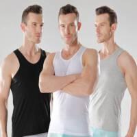 谢嘉儿三件男士背心男紧身纯棉质修身型健身运动跨栏打底弹力青年汗背心夏季