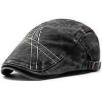 户外帽子男士鸭舌帽贝雷帽休闲时尚潮人前进帽韩版复古英伦鸭舌帽