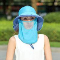 户外遮阳帽女防晒时尚户外可折叠太阳帽子妈妈干农活遮脸大沿