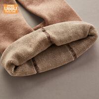 宝宝连裤袜秋冬装加绒款一条过冬洋气网红纯色大PP
