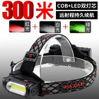 户外骑行夜钓鱼矿灯LED头灯强光充电超亮头戴式手电筒超长续航