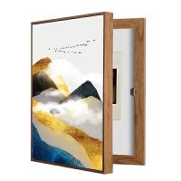 餐厅开关盒装饰画电表箱配电盒竖款现代简约免打孔弱电箱遮挡壁画 外框80x60 遮挡70x50 色画框 单幅价格