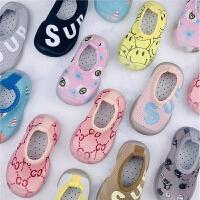 秋季宝宝地板鞋卡通防水防滑鞋硅胶软底婴幼儿童室内外早教学步鞋