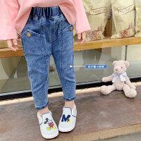 女童牛仔裤春秋款女宝宝裤子中儿童长裤