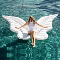 天使翅膀充气浮床蝴蝶浮排天使之翼水上游泳圈气垫婚纱照摄影道具