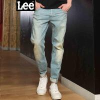Lee男装 2018春秋新品低腰直脚3D视觉九分牛仔裤男LMZ755Z025DK