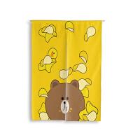 爱布朗艺棉麻制韩式卡通意家居布隔断熊可妮兔创帘半帘门帘可定 薯片