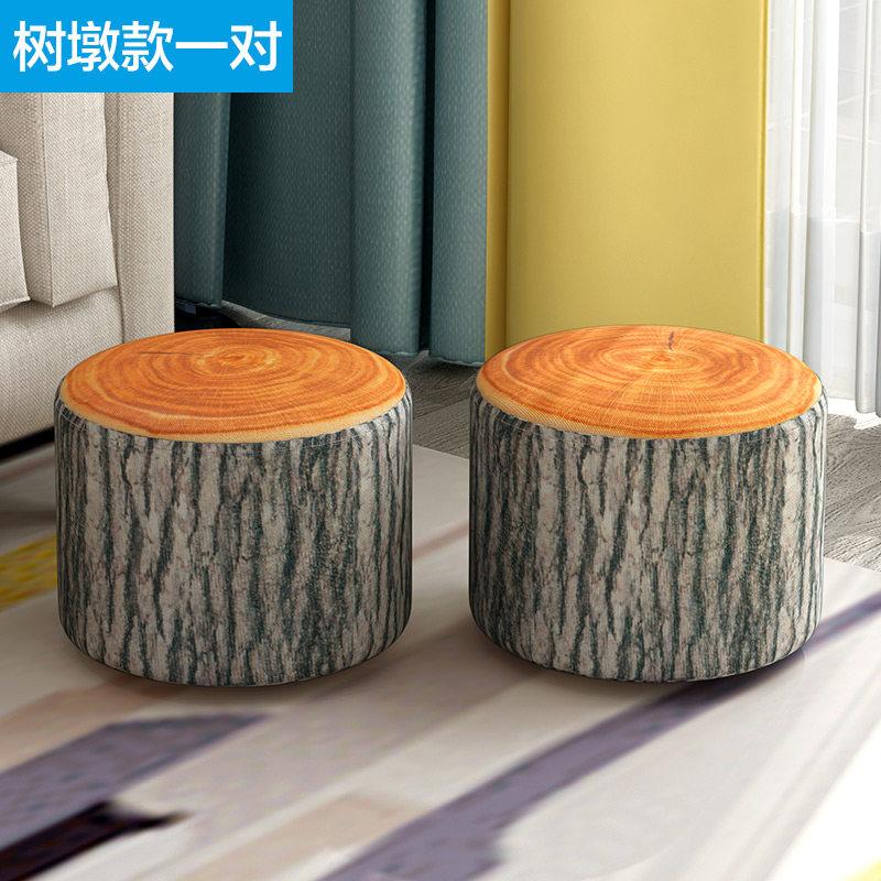 凳子小板凳家用时尚创意小椅子凳子家用懒人矮凳圆凳客厅T