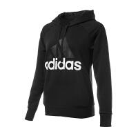 【店庆开门红低至3折】Adidas/阿迪达斯女卫衣 2018新款ESS LIN DH HD连帽运动休闲套头衫 S970