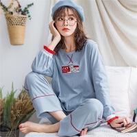 1510春季新款韩版纯棉长袖套头居家月子服睡衣女