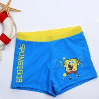 儿童泳衣男童平角泳裤中大童卡通游泳衣男孩海绵宝宝小孩泳裤
