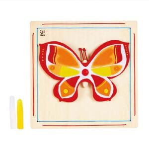 【特惠】HapeDIY立体毛毡画 蝴蝶 花朵 3岁以上创意益智玩具游戏绘画手工