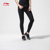 李宁健身裤女士2018新款专业系列训练弹性透气弹力女装紧身运动裤AULN036