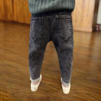 儿童裤子男童牛仔裤春秋装2018新款韩版潮中大童冬款长裤单裤加绒
