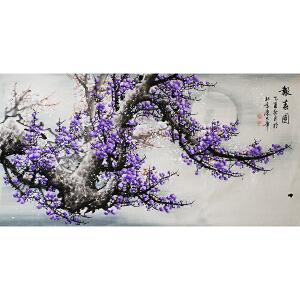 陈大章《蓝梅--报春图》附赠出版画册