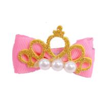 儿童蝴蝶结发卡发夹皇冠公主小女孩可爱饰品头饰生日礼物王冠