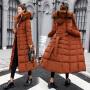 【年货节 直降到底】羽绒棉服女加长款2020新款韩版修身过膝冬装外套加厚棉袄反季棉衣