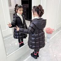 女童中大童加厚棉袄女孩洋气棉衣中长款冬装外套