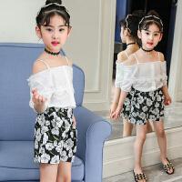 女童夏装套装2018新款韩版时尚小孩儿童两件套吊带衣服洋气夏季