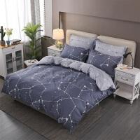 床上四件套棉简约1.5m床单被套1.8米双人床笠被罩4件套