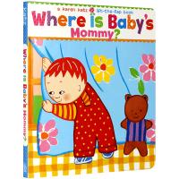 妈妈在哪里? Karen Katz 卡伦卡茨 英文原版绘本 Where Is Baby's Mommy? 纸板翻翻书 英