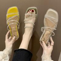 户外女士潮时尚外穿拖鞋休闲舒适女鞋气质百搭平底鞋