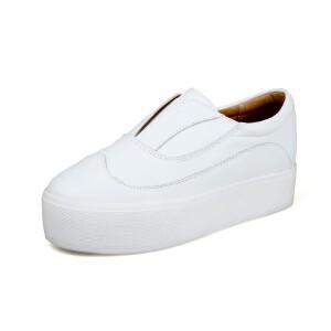 O'SHELL法国欧希尔新品065-026-1休闲头层牛皮里外全皮真皮平底女士小白鞋