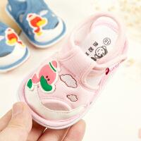 宝宝包头凉鞋软底夏季婴儿学步布鞋0-1-2岁男女鞋