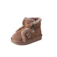 女童雪地靴新款冬季加绒儿童棉鞋保暖宝宝靴子男童短靴
