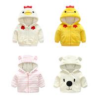 婴儿外套装男童春装秋冬装加绒加厚婴幼儿女童洋气宝宝0岁1卫衣服