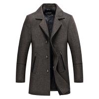 羊毛呢大衣男中长款韩版修身呢子外套妮子青年帅气中年秋冬季风衣