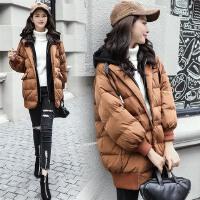 棉衣女中长款2017冬装新款女装韩版宽松显瘦连帽加厚棉袄外套