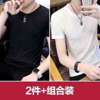 男士短袖T恤速干圆领2018夏季新款青年学生潮透气冰丝上衣服镂空