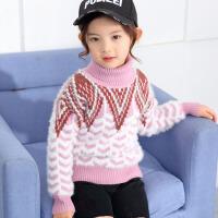 儿童套头打底针织衫冬款女童高领毛衣2017新款韩版厚款保暖中大童