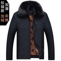 冬季棉衣男 新品加绒加厚保暖 中年男装外套加棉夹克中老年人