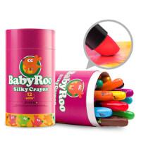 美乐 儿童蜡笔婴儿无毒可食用幼儿水洗1-2-3岁画笔涂鸦婴宝宝安全